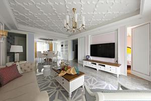 法式风格客厅吊顶装修设计效果图