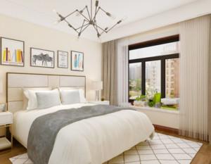 90平现代简约风格卧室窗帘装修效果图赏析