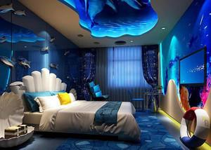 精致蓝色主题宾馆装修效果图