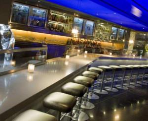 现代简约风格酒吧吧台装修布置效果图
