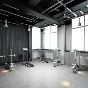 健身房工业风格装修效果图