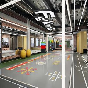 200平米健身房个性装修效果图