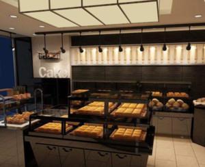 40平现代简约面包店装修布置效果图