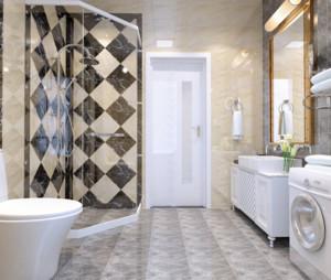 别墅现代卫生间装修效果图