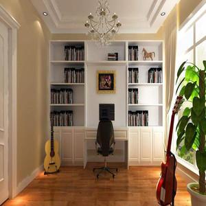 简单现代书房装修效果图