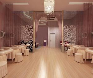 美容院大厅装修效果图