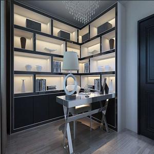 现代高端书房装修效果图
