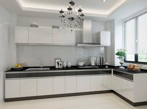 白色厨房橱柜装修效果图