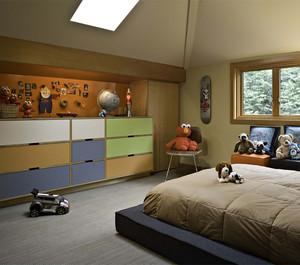 浪漫现代风格儿童房装修设计图