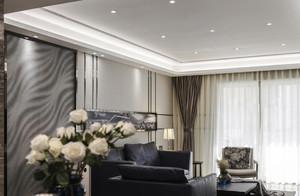 三居室现代简约客厅吊顶装修设计效果图