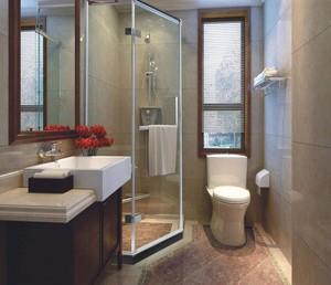 卫生间淋浴房隔断效果图