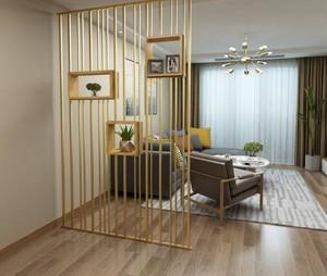 北欧风格客厅置物架隔断效果图