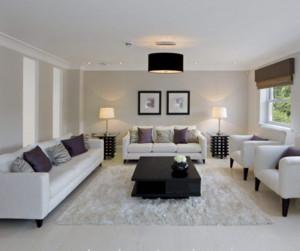 现代简约风格客厅沙发布置效果图