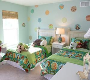 简约清新风格儿童房装修效果图