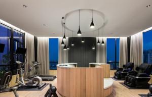 现代简约风格健身房装修效果图