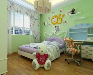 绿色系儿童房装修效果图