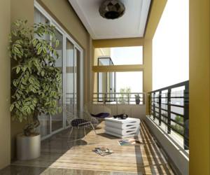 大户型现代简约风格阳台装修设计效果图赏析
