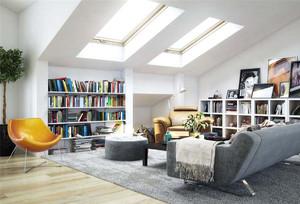 现代阁楼改书房装修效果图