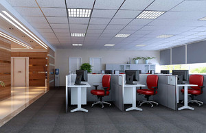 互联网公司员工办公室装修