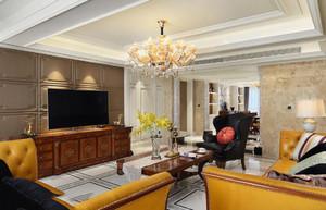 美式客厅吊顶装修设计效果图