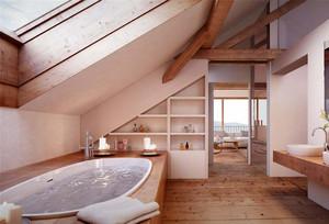现代简约阁楼浴室装修效果图