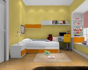 黄色系儿童房装修效果图赏析