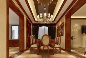 新中式风餐厅装修设计图