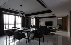 三居室简约风格吊顶装修设计效果图