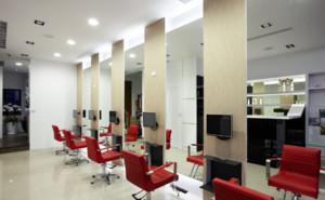 现代风格美发店理发区装修效果图