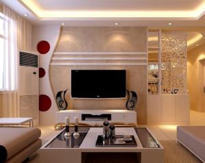 现代简约客厅电视柜布置效果