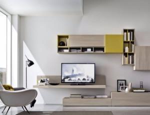 现代简约客厅电视柜装修布置效果图