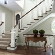 欧式风格高档别墅实木楼梯装修效果图