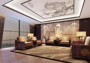 中式风格会客厅效果图赏析