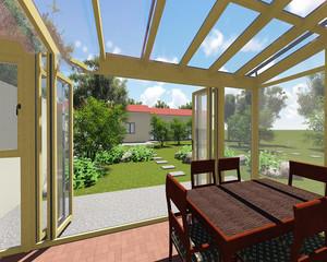 花园阳光房设计效果图