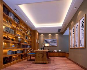 新中式古典书房装修效果图