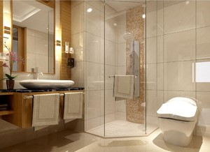 新中式衛生間裝修設計效果圖