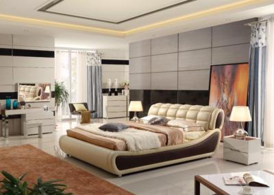 现代简欧风格卧室背景墙装修效果图