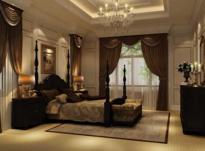 欧式风格卧室背景墙装修图片赏析