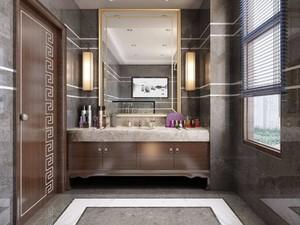 新中式别墅卫生间装修效果图