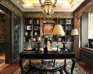 古典奢华书房装修图片