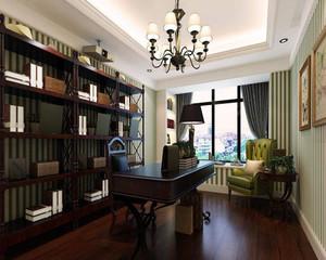美式精致书房效果图