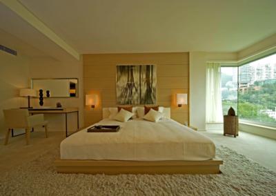現代臥室背景墻裝修圖片