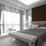 现代卧室背景墙家装效果图