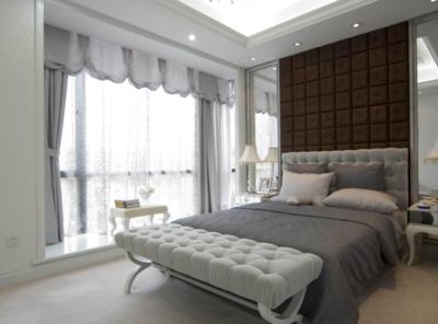 現代臥室背景墻家裝效果圖