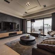 灰色系现代时尚客厅装修效果图
