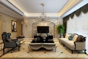 欧式客厅装修效果设计图