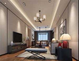 現代簡約新中式客廳裝修效果圖
