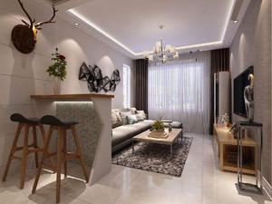 现代小户型客厅装修图片