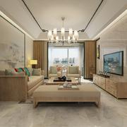 浅色系中式客厅装修效果图