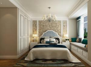 现代欧式风格卧室背景墙装修布置图片